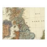 Linguistic map of British Isles Postcard