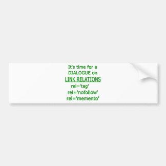 Link Relations Green Logo Bumper Stickers