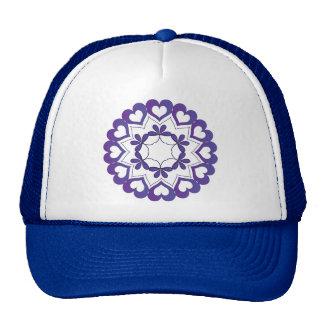 Linked by Love Blue Hearts Trucker Hat