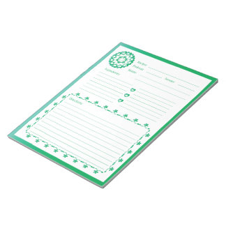 Linked by Love Recipe Notepad - Green