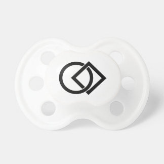 Linked circle and square pacifier
