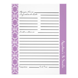 Linked Eternity Rings Recipe Inserts - Purple 21.5 Cm X 28 Cm Flyer