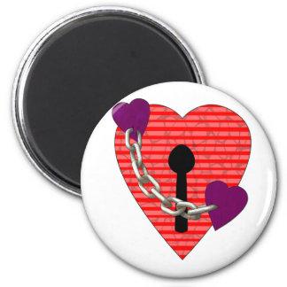 linked harts refrigerator magnet