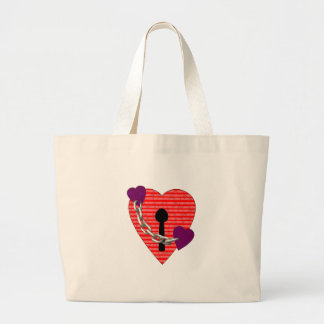 linked harts tote bags