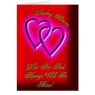 Linked Hearts Fiancee Valentines Card