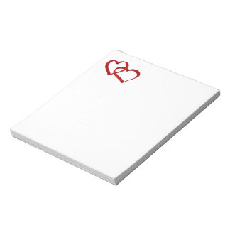 Linked Hearts notepad