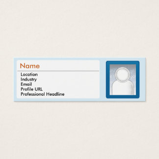 LinkedIn - Skinny Mini Business Card