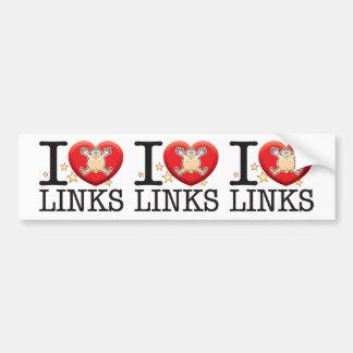Links Love Man Bumper Sticker