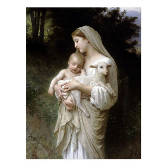 L'innocence by Bougeureau, christmas postcards