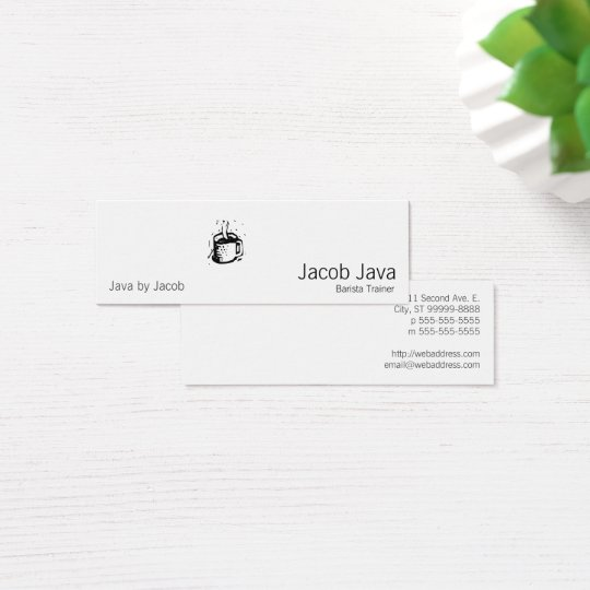 Lino Coffee Cup Mini Business Card