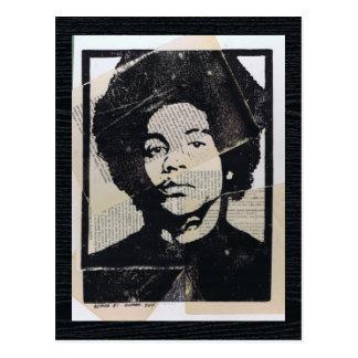 Linoleum Block Print Mixed Media Arthur #1 Postcard