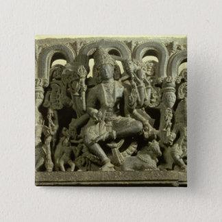 Lintel depicting The Trinity: Siva, Brahma and Vis 15 Cm Square Badge
