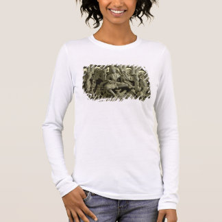 Lintel depicting The Trinity: Siva, Brahma and Vis Long Sleeve T-Shirt