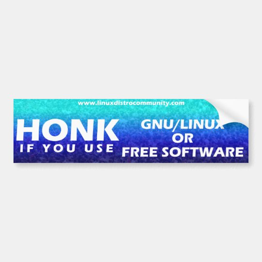 Linux Distro Community Bumper Sticker