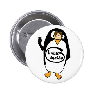 Linux Inside disguise 6 Cm Round Badge