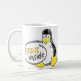 LINUX INSIDE Tux the Linux Penguin Logo Coffee Mug