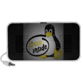 LINUX INSIDE Tux the Linux Penguin Logo Mini Speaker