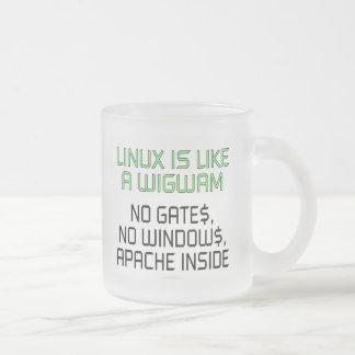 Linux is like a wigwam. No gates, no windows... Mug