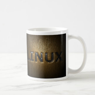 LINUX Pressed Basic White Mug