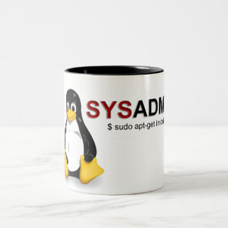 Linux Sys Admin Two-Tone Mug