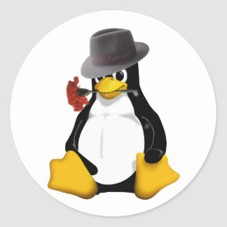 Linux tango classic round sticker