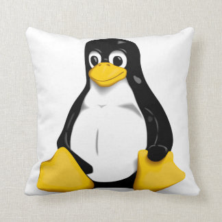 Linux Tux Products Throw Cushions