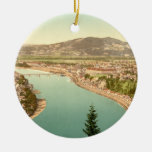 Linz in Austria Double-Sided Ceramic Round Christmas Ornament