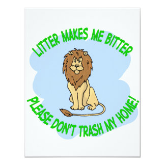 lion 11 cm x 14 cm invitation card