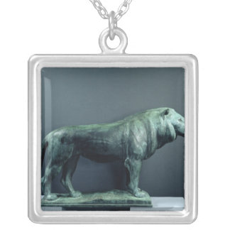 Lion, 1904 silver plated necklace