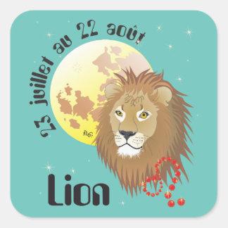 Lion 23 juillet outer 22 août Autocollants Square Sticker
