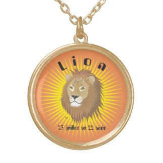 Lion 23 juillet outer 22 août collier round pendant necklace