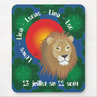 Lion 23 juillet outer 22 août Tapi de souri Mouse Mat