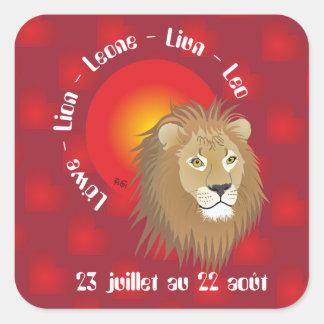 Lion 23 juillet outer 22 Autocollants Square Sticker