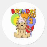 Lion 2nd Birthday Round Stickers