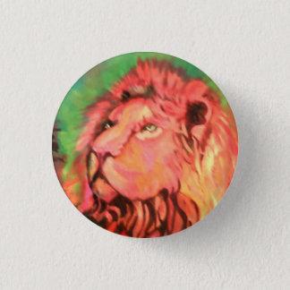 Lion. 3 Cm Round Badge