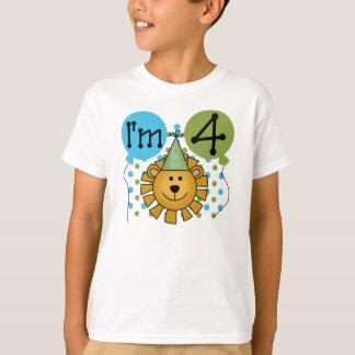 Lion 4th Birthday T-Shirt
