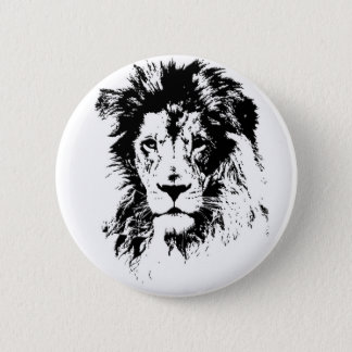 lion 6 cm round badge