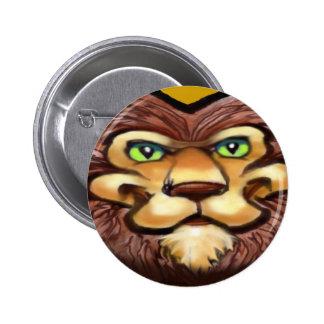 Lion 6 Cm Round Badge