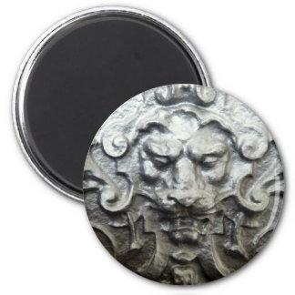Lion 6 Cm Round Magnet