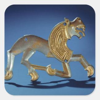 Lion, 6th- 7th century BC Square Sticker