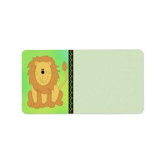 Lion Address Label