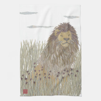 Lion, Africa, Animal, Wildlife Tea Towel