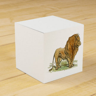 Lion African Cat Golden Mane Cartoon Favour Box