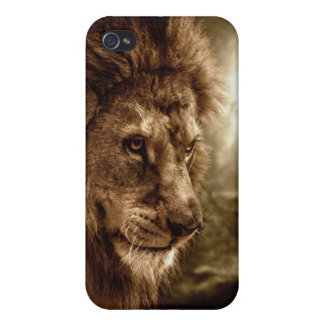 Lion against stormy sky case for iPhone 4