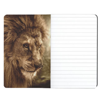 Lion against stormy sky journal