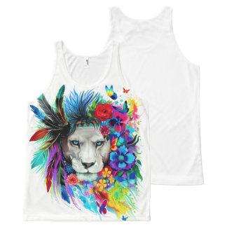 LION. All-Over PRINT TANK TOP
