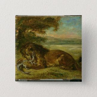 Lion and Alligator, 1863 15 Cm Square Badge