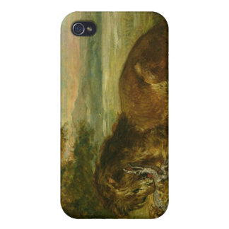 Lion and Alligator, 1863 Case For iPhone 4