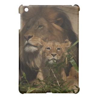 Lion and cub in the grass iPad mini cover