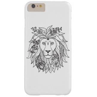 Lion And Flowers Doodle Barely There iPhone 6 Plus Case